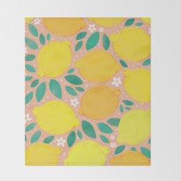 Meyer Lemons Throw Blanket