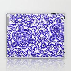 Blue antik lace Laptop & iPad Skin