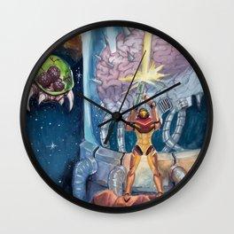 Super Metroid Fan Art Wall Clock