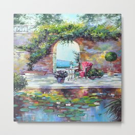 Cozy courtyard Metal Print