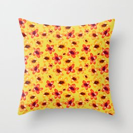 Bright Flowers Throw Pillow