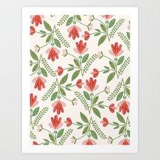 Floral Garden Pattern Art Print