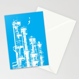 Factory Jump (white) Stationery Cards