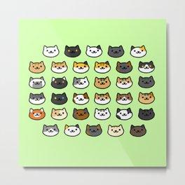 CAT BACKYARD v2 Metal Print