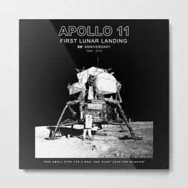 Apollo 11 - 50th Anniversary 1969-2019 - Lunar Landing - Moon Metal Print
