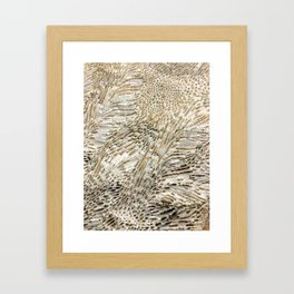 Digital Coral Design Framed Art Print