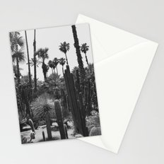 Tropical Cacti Gardens BW Stationery Cards