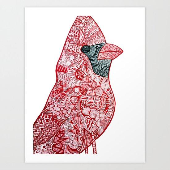 Cardinal Cardinal Art Print