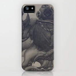 Scuba Diver with Crab Hands iPhone Case