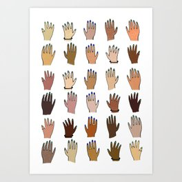 Raise your hand for equal rights Art Print