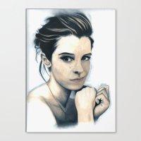 emma watson Canvas Prints featuring Emma Watson by A.LynnArt