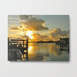 Sunset at Ocracoke Metal Print