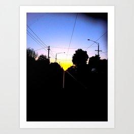 Tram Tracks Art Print