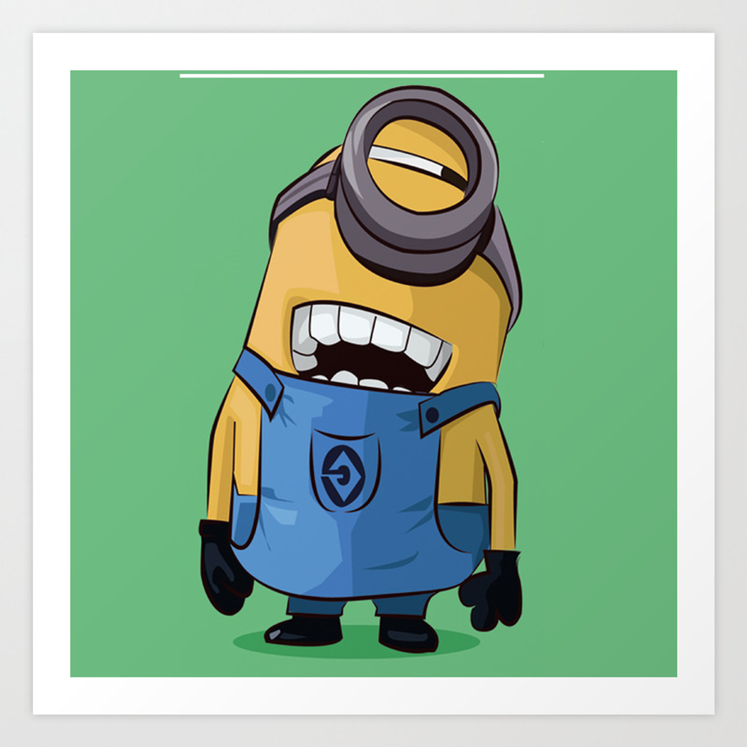 Minion Art Print By Fatimakhaled95 Society6
