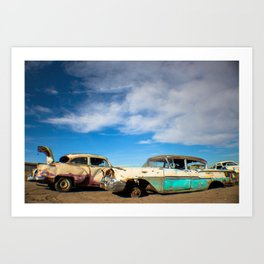 Salvage Yard Cars Art Print