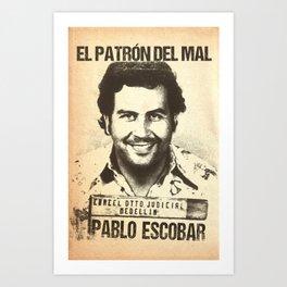 Pablo Escobar mugshot Art Print