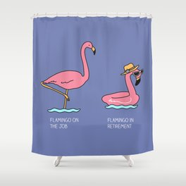 Types of flamingo Shower Curtain