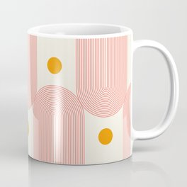 Abstraction_SUN_DOUBLE_LINE_POP_ART_Minimalism_001C Coffee Mug