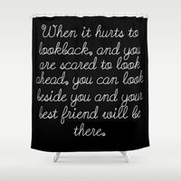 friendship Shower Curtains featuring Friendship by Anna Stassen