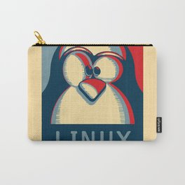 Linux tux penguin obama poster logo Carry-All Pouch
