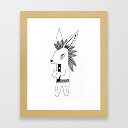 Timid Rabbit Framed Art Print
