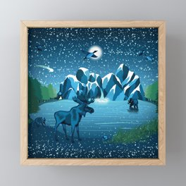Fireflies Like Stars Framed Mini Art Print