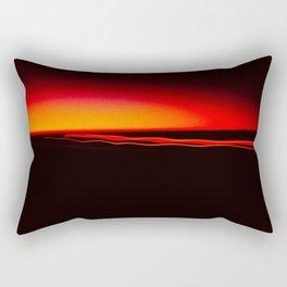Night Lights Four Red Tail Lights Rectangular Pillow