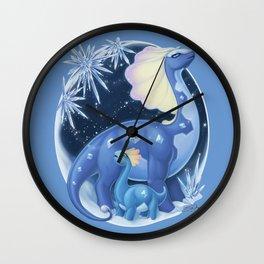 Amaura and Aurorus: Childlike Enthusiasm Wall Clock