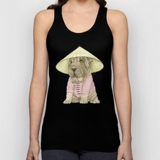 Shar Pei on the Great Wall (China) Unisex Tank Top