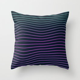 Simple Neon Lines Throw Pillow