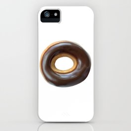 Chocolate Covered Ring Donut iPhone Case