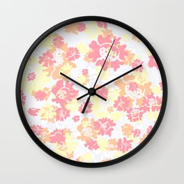 Fire Floral Wall Clock