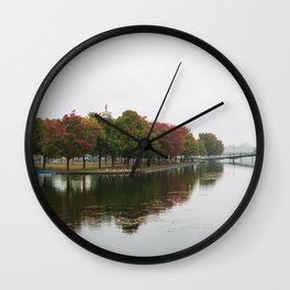 Fall at the Old Port of Montreal Wall Clock