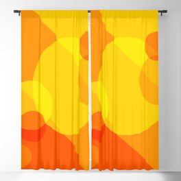 Orange Spheres Abstract Blackout Curtain