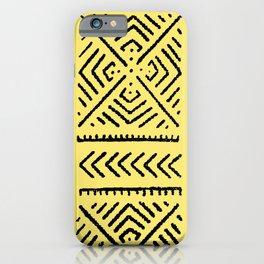 Line Mud Cloth // Yellow iPhone Case