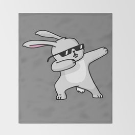 Dabbing Easter Bunny Throw Blanket
