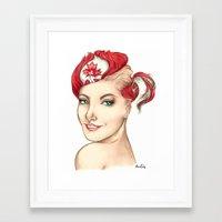 canada Framed Art Prints featuring Canada  by Alexandra Davidoff
