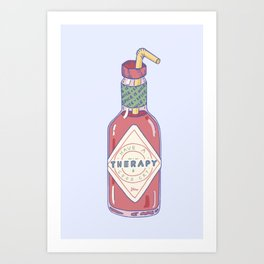 Hot Sauce Therapy Art Print