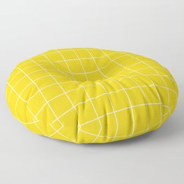 Sunshine Grid Floor Pillow