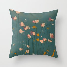 A Field Of Flowers Bloom Throw Pillow