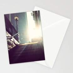 nyc subway sun Stationery Cards