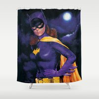 batgirl Shower Curtains featuring BATGIRL 1966 by ROY  AIUTO