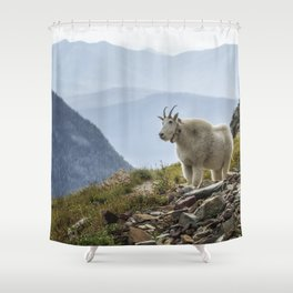 The Ups and Downs of Being A Mountain Goat No. 2a Shower Curtain