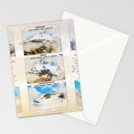 7 Summits, the worlds highest mountains Stationery Cards