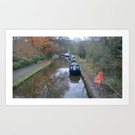 on the canal UK Art Print