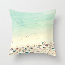 beach XVI Throw Pillow
