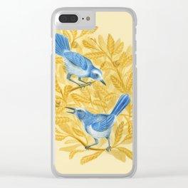Scrub-Jays Clear iPhone Case