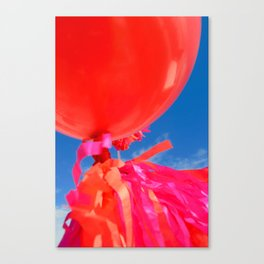 Balloons, ribbons and tassels Canvas Print
