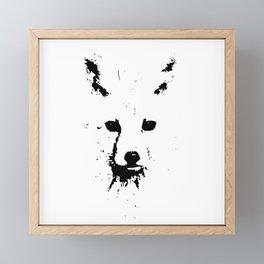 Black Ink Fox Framed Mini Art Print