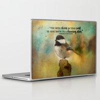 nietzsche Laptop & iPad Skins featuring Chickadee Chaos by Ginkelmier Artworks
